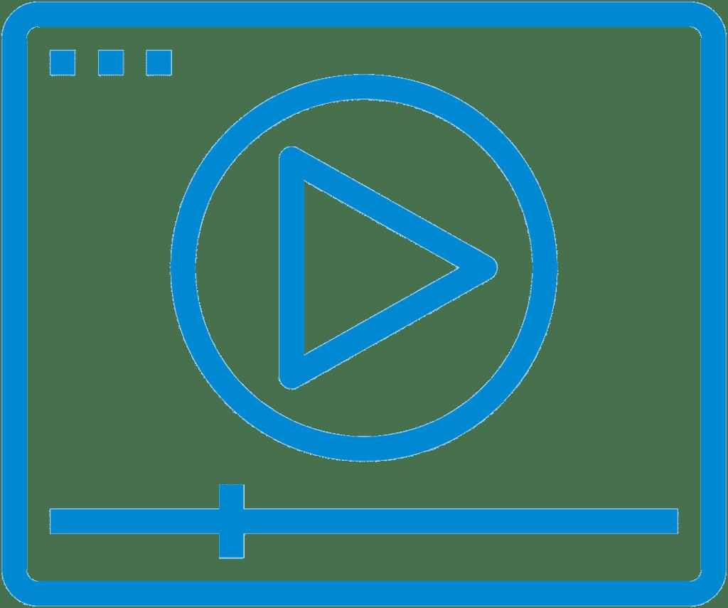 Icona con play legata a video nella pagina home di Marawash